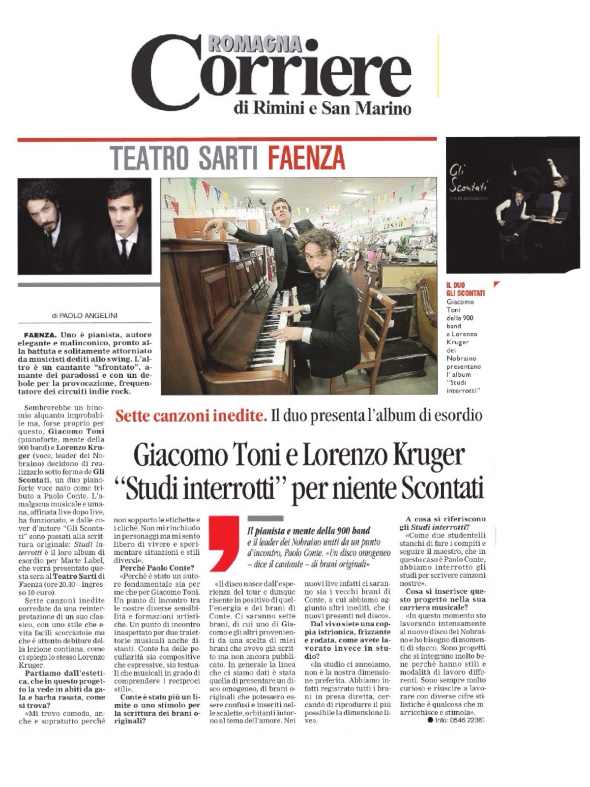 Corriere di Romagna 21.01.2016