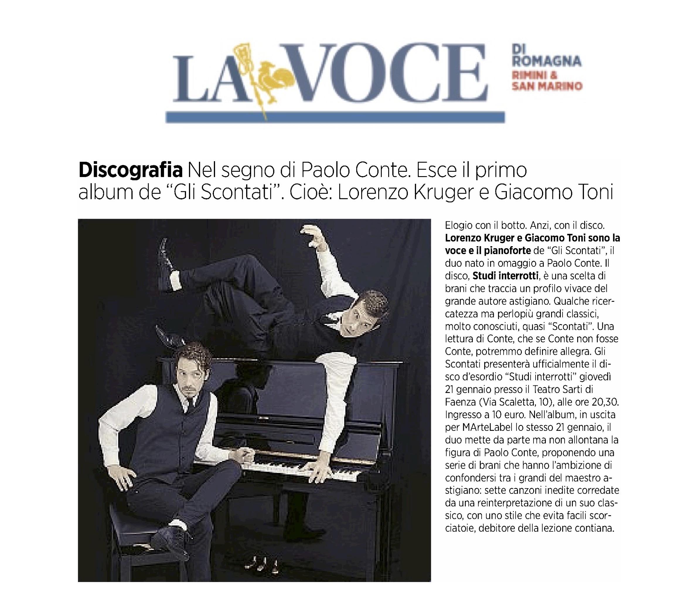 La Voce di Romagna 13.01.2015